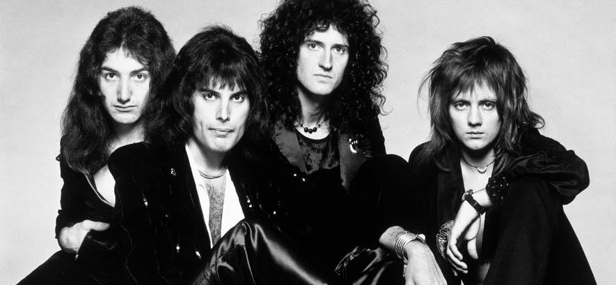 """Pressebild der Band Queen, deren Song """"Cool Cat"""" heute unser Track des Tages ist."""
