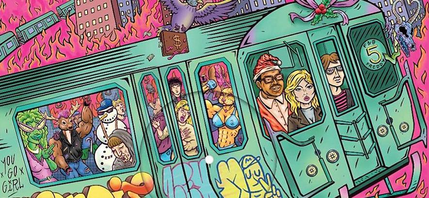 """Artwork der Single von Blondie & Fab 5 Freddy – """"Yuletide Throwdown""""."""