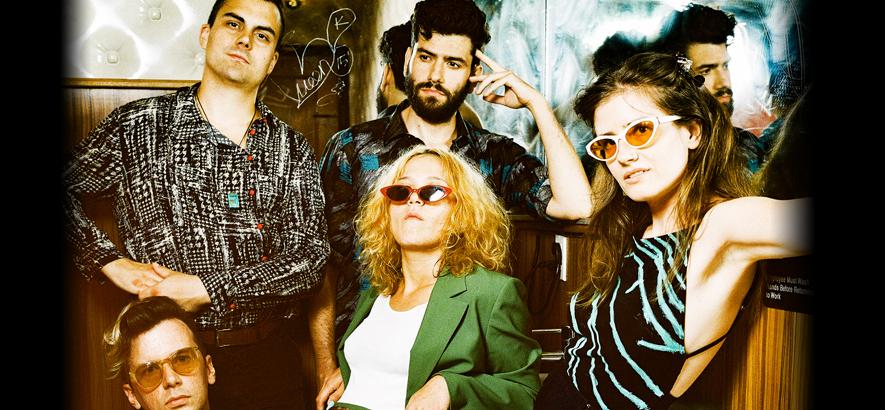 """Foto der US-amerikanischen Post-Punk-Band Bodega, die ein neues Album namens """"Broken Equipment"""" angekündigt hat."""