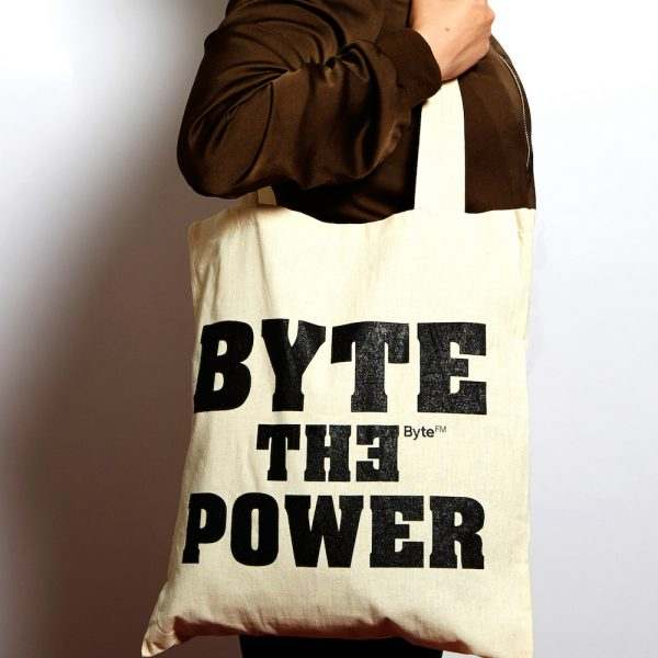 ByteFM Beutel 'Byte the power'