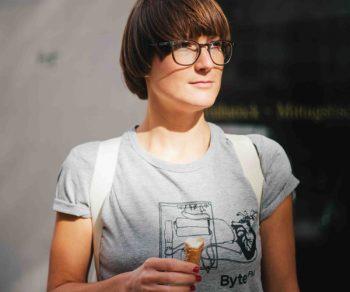 ByteFM Shirt Herzmaschine Grau