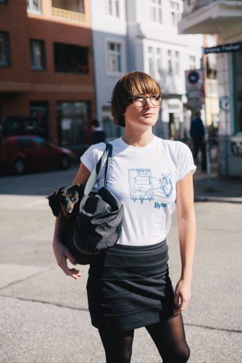 ByteFM Shirt Herzmaschine Weiß