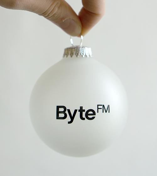 ByteFM Weihnachtskugel
